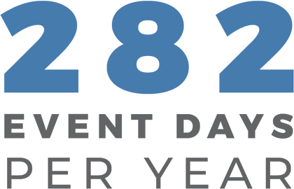 282 event days per year