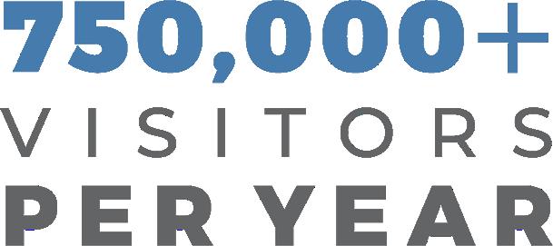 750,000+ visitors per year